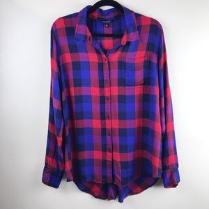 Lucky Brand | Red & Blue Plaid Button Up   A-114-5